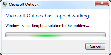 Outlook 2013 has stopped working – 0xc0000005   FICILITY NET