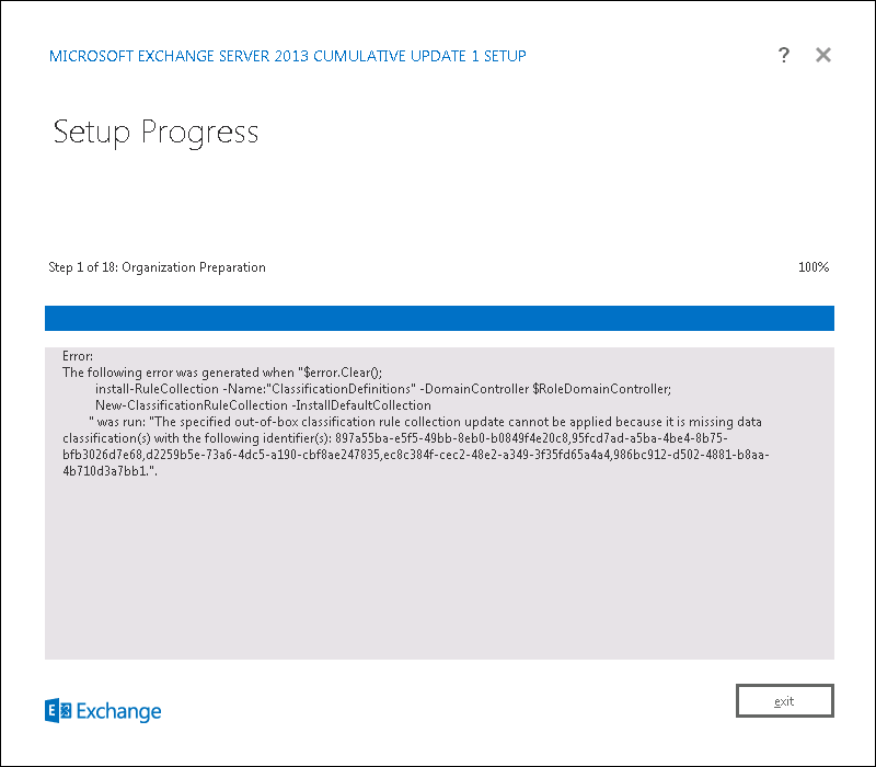install-rulecollection error