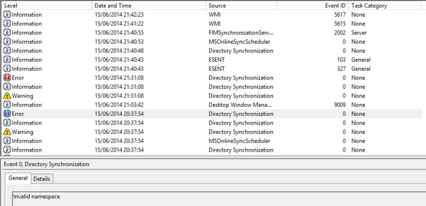 invalid namespace