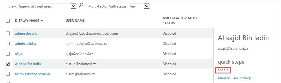Office 365 – Multi Factor Authentication support part 1